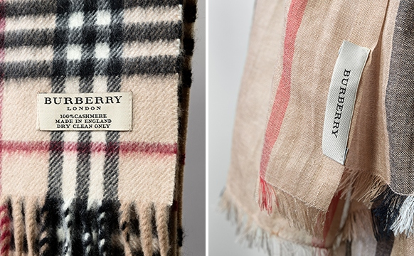 how to wear a short burberry scarf