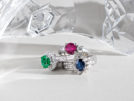 Alternative Engagement Rings Emerald Ruby Sapphire