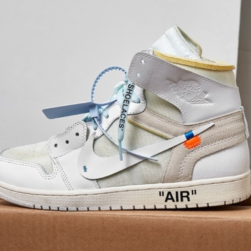White Off-White x Nike Jordan 1 Sneakers