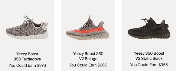 Yeezy Boost 350 sneakers & How Much You Could Earn For Them
