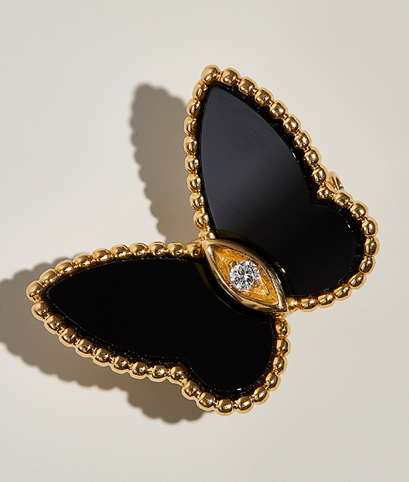 Van Cleef & Arpels Lucky Alhambra Butterfly Pin